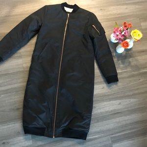 Monrow long bomber jacket
